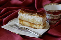 French creamy cake